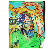 DESERT ANGEL -1 - acrylic, tempera, paper 18 x 24'' Poster