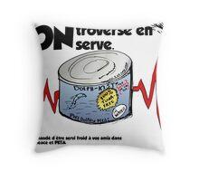 Viande de dauphin caricature éditoriale des affaires Throw Pillow