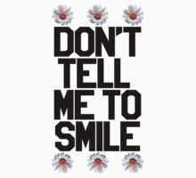 Don't Tell Me To Smile - Black One Piece - Short Sleeve