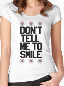 Don't Tell Me To Smile - Black Women's Fitted Scoop T-Shirt