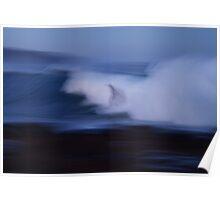 blue flow V Poster