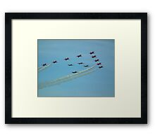The Red Arrows with Eagle Squadron  Framed Print