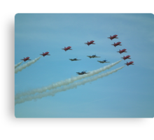 The Red Arrows with Eagle Squadron  Canvas Print