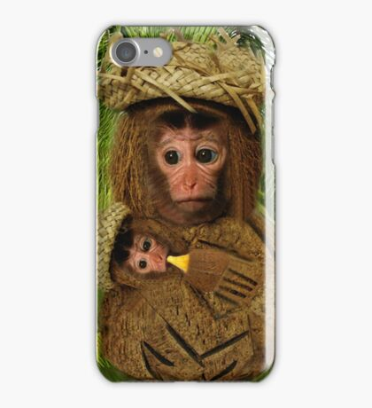 ¸¸.♥➷♥•*¨COCONUT MONKEY LOVE-PILLOWS-JOURNALS - ECT.. ¸¸.♥➷♥•*¨ iPhone Case/Skin