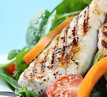 Chicken and Spinach Salad by psctran