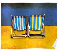 Deck chairs-2 Poster