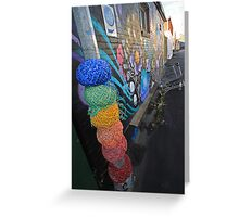 yarn bombed Greeting Card