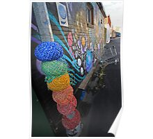 yarn bombed Poster