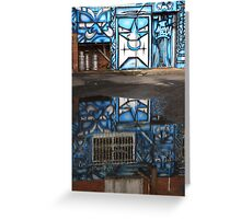 blue mecca Greeting Card