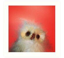 Peach Owl Art Print