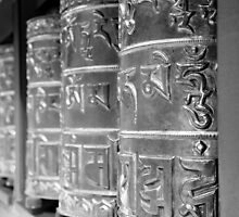 prayer wheels in mono by SharronS