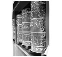 prayer wheels in mono Poster