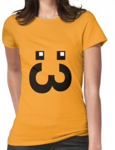 Cute Face :3 (big mouth) Womens Fitted T-Shirt