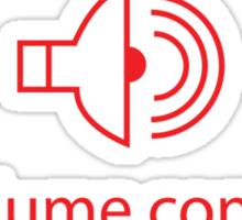 Volume Control Sticker