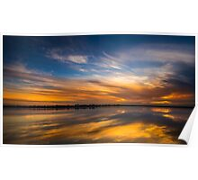 Sunset on the Barwon - Ocean Grove Victoria Poster