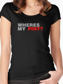 Wheres My Pint? Women's Fitted Scoop T-Shirt