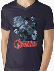 THE LEGENDS Mens V-Neck T-Shirt