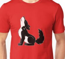 Black & White Howling Wolf Pup Unisex T-Shirt