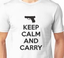 Keep Calm and Carry 2nd Amendment Gun Rights Concealed Carry Shirt, Stickers, Poster Unisex T-Shirt