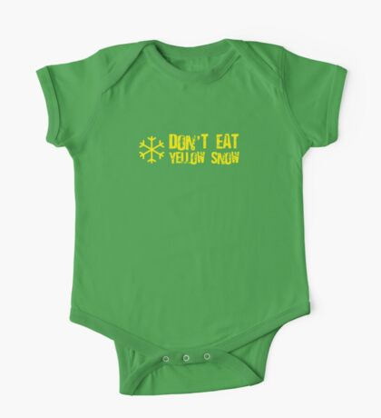 Don't Eat Yellow Snow One Piece - Short Sleeve