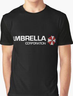 Umbrella Corps - White text Graphic T-Shirt