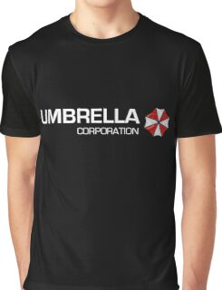 Umbrella Corps - White text Graphic T-Shirt