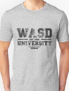 WASD University Black Unisex T-Shirt