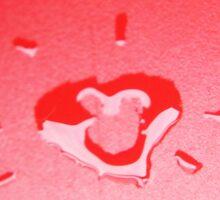 Wet heart - red Sticker