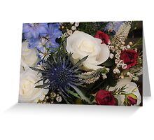Jilly's Wedding Bouquet Greeting Card