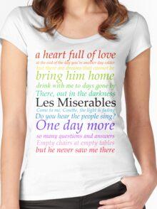 Les Miserables Lyric Design Women's Fitted Scoop T-Shirt