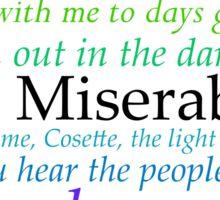 Les Miserables Lyric Design Sticker