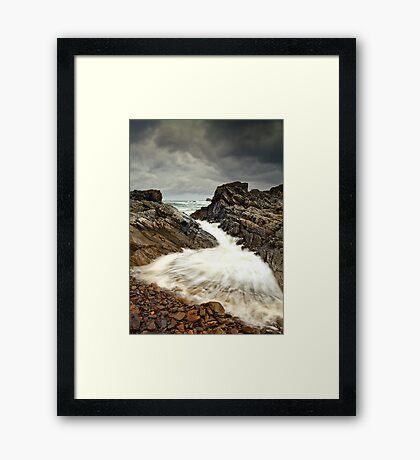 Incoming Wave Framed Print