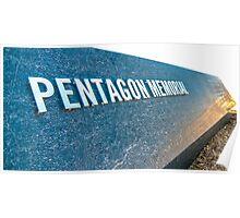 pentagon memorial Poster