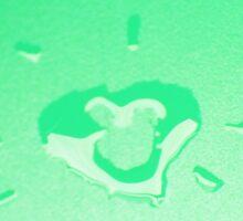 Wet heart - mint green Sticker