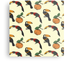 Two toucan and persimmon ornament Metal Print