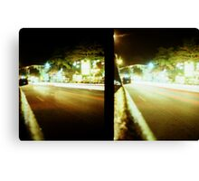 Late Night Tail Lights - Lomo Canvas Print