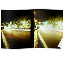 Late Night Tail Lights - Lomo Poster