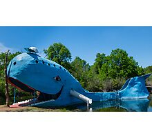 Ol' Blue, the blue whale on Route 66, Catoosa, OK Photographic Print