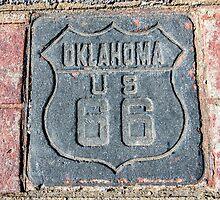 Oklahoma US 66 Shield on Route 66, Tulsa, OK by swtrekker