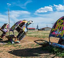 Bug Ranch on Route 66, Panhandle, TX by swtrekker