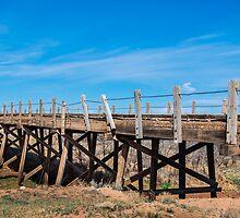 Wood bridge on Route, 66, Endee, NM by swtrekker