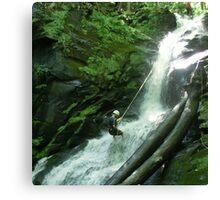 Waterfall Rappel  Canvas Print