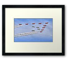 "Red Arrows And ""Eagle Squadron"" Duxford 26.05.2013 Framed Print"