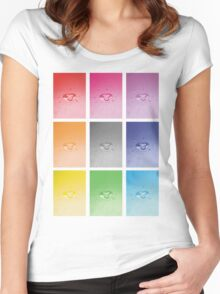 Wet heart - rainbow dash Women's Fitted Scoop T-Shirt