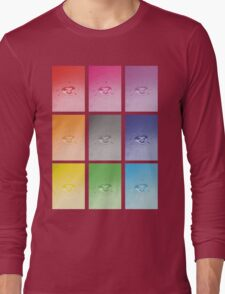 Wet heart - rainbow dash Long Sleeve T-Shirt