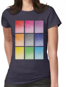 Wet heart - rainbow dash Womens Fitted T-Shirt