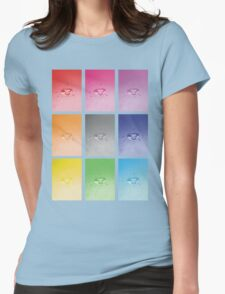 Wet heart - rainbow dash Womens Fitted T-Shirt