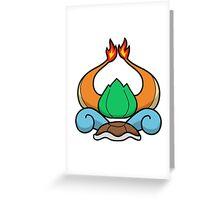 Pokemon Starter Crest Greeting Card