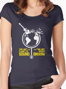 Planet of Sound Women's Fitted Scoop T-Shirt