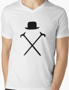 Bowler Hat and Canes T Shirt Mens V-Neck T-Shirt